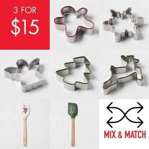 Other - Christmas cookie cutters spatulas mix and match